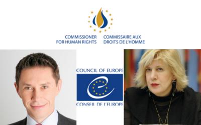 г-н Пьера-Ив Ле Борнна и г-жа Дуня Миятович заполнили анкету ФГО ВП и рассказали о себе как о претендентах на позицию Комиссара по правам человека Совета Европы