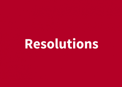 (English) Resolutions