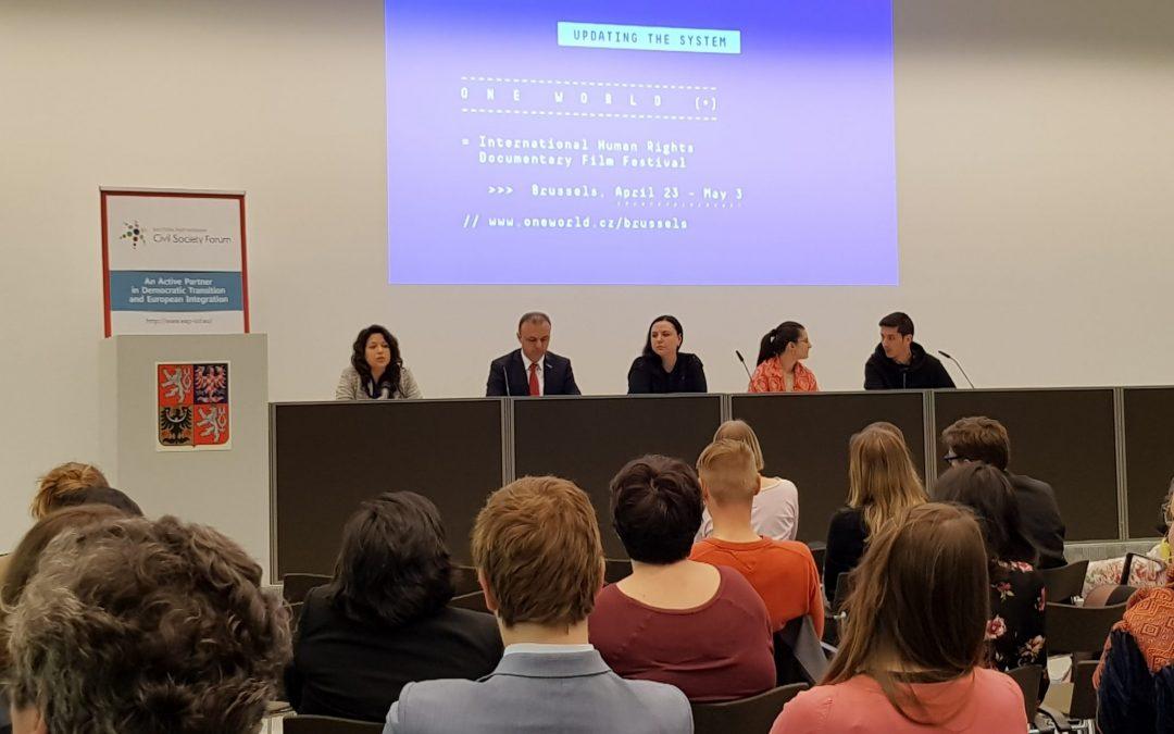 ФГО ВП организовал публичное обсуждение темы «Предотвращение пыток» во время Фестиваля правозащитного кино в Брюсселе