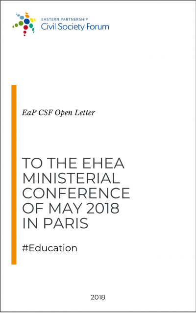 Civil Society Address to the EHEA Ministerial Conference