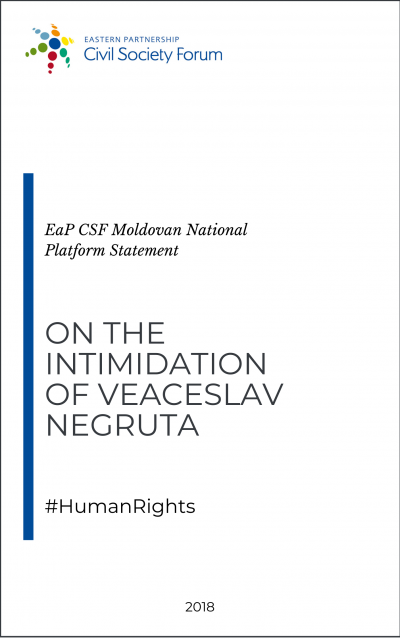 Statement on the Intimidation of Veaceslav Negruta, an expert of Transparency International Moldova and former Minister of Finance