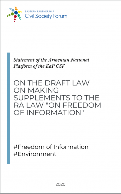 Armenian National Platform Statement on Freedom of Information