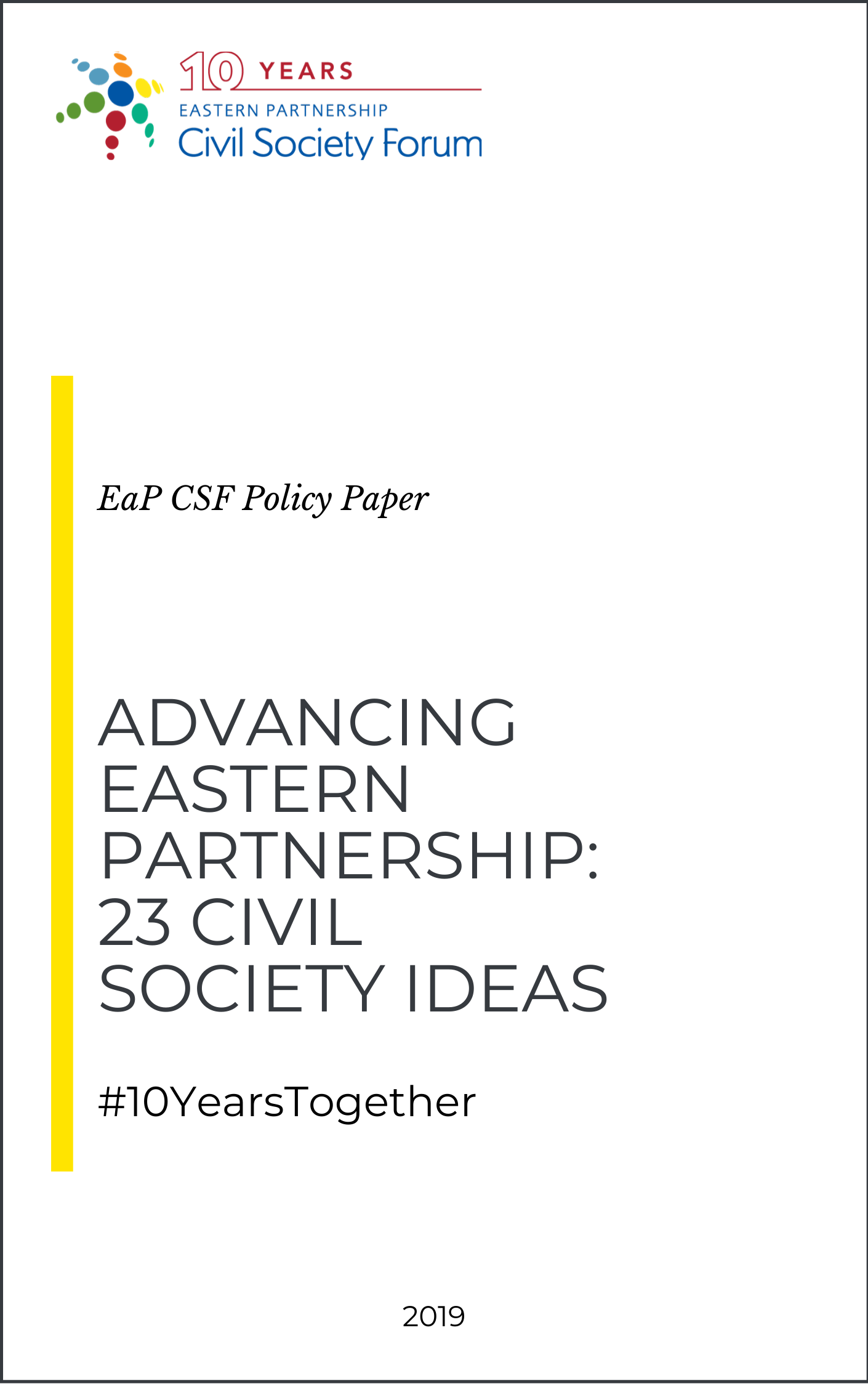 (English) Advancing Eastern Partnership: 23 Civil Society Ideas