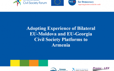 Adopting Experience of Bilateral EU-Moldova and EU-Georgia CS Platforms to Armenia