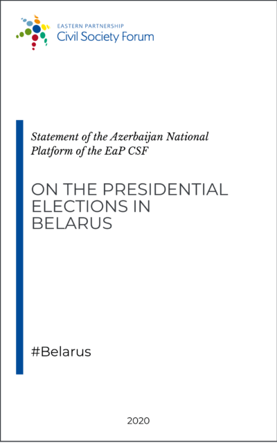 Azerbaijan National Platform Statement on the presidential elections in Belarus