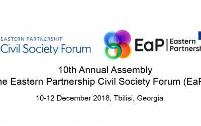 [:en]EaP CSF Steering Committee Statement on the Preparations of the Upcoming EaP CSF 10th Annual Assembly in Tbilisi – in Response to the Critical Comments in the Media in Azerbaijan[:]
