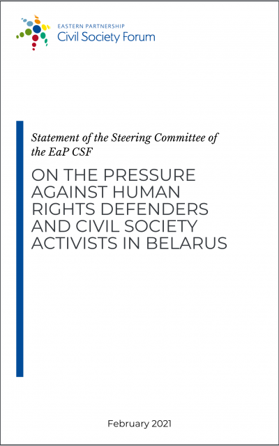 Steering Committee Statement on the intensified pressure against activists in Belarus