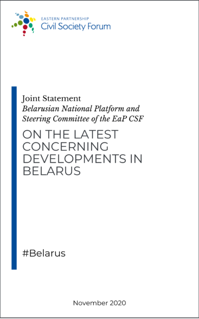 Joint Statement on the latest concerning developments in Belarus
