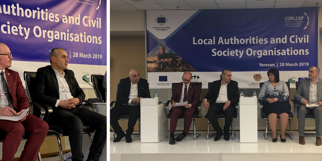 EaP CSF Participates in CORLEAP Bureau Meeting in Yerevan, Presenting a Case for Citizen Participation in Local Government
