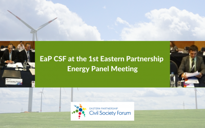 Civil Society Delivers Pertinent Recommendations at the 1st Eastern Partnership Energy Panel Meeting