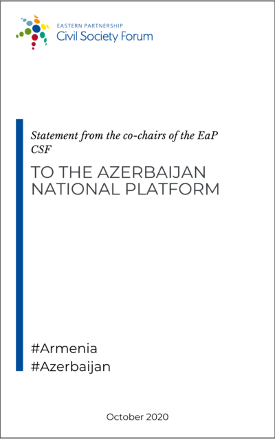 Statement from the co-chairs of the EaP CSF to the Azerbaijan National Platform