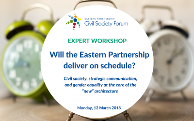 "Expert Workshop: Will the Eastern Partnership Deliver on Schedule? Civil society, strategic communication, and gender equality at the core of the ""new"" architecture"