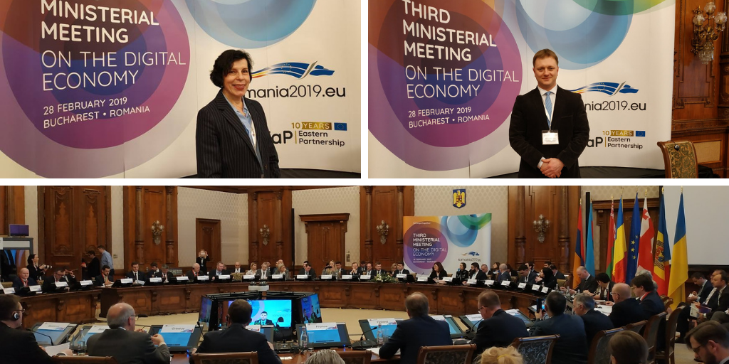 EaP CSF Raises Points on EU4Digital Initiative and Gender Equality at the EaP Ministerial Meeting on Digital Economy in Bucharest