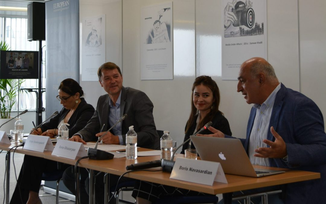"Debate on Challenges Faced by Pashinyan's Administration Ensues at ""Securing the revolution – the role of civil society and reform challenges in Armenia"" Joint Panel at EED, Brussels"