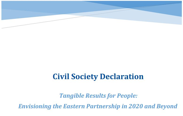 Civil Society Declaration addressed to the 5th Eastern Partnership Summit