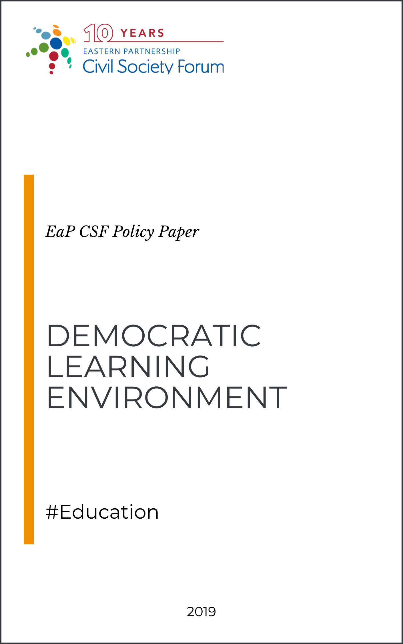 (English) Democratic Learning Environment
