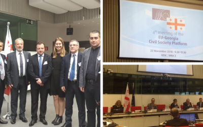 EaP CSF Contributes to 2 EU-Georgia Civil Society Platform Meetings under EESC, Focusing on SMEs and Energy Efficiency