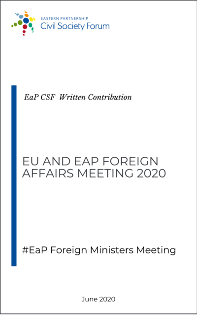 EU and EaP Foreign Affairs Ministers Meeting 2020