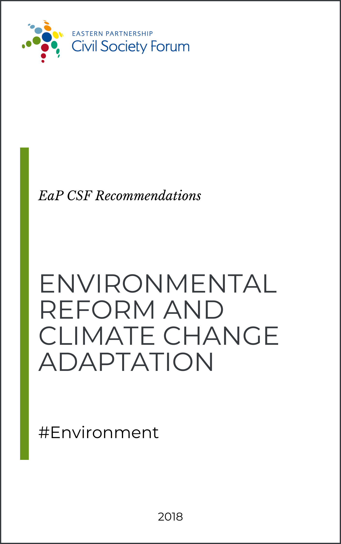 (English) Environmental Reform and Climate Change Adaptation