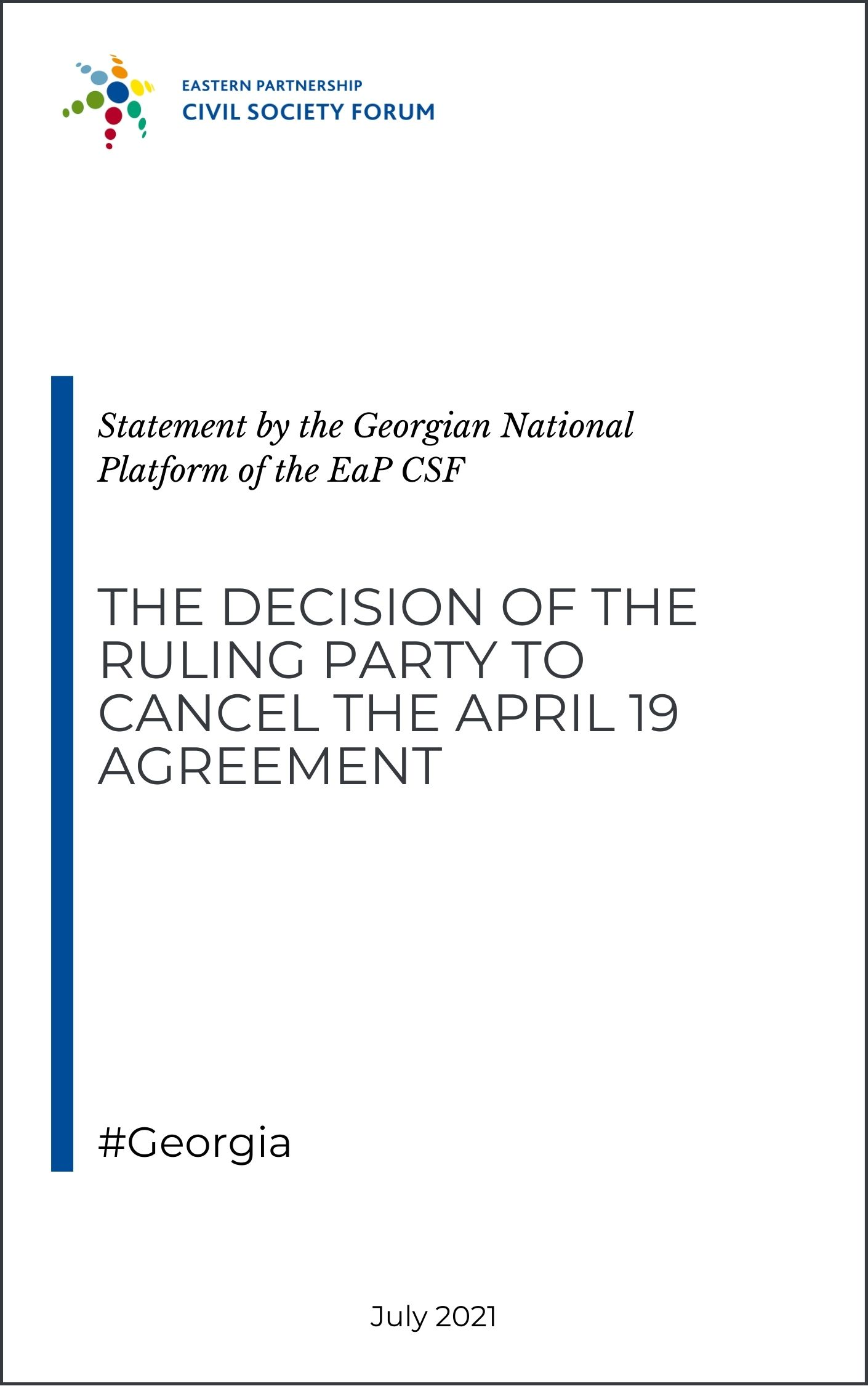 Statement of GNP on the Decision of the Ruling Party to Cancel the April 19 Agreement