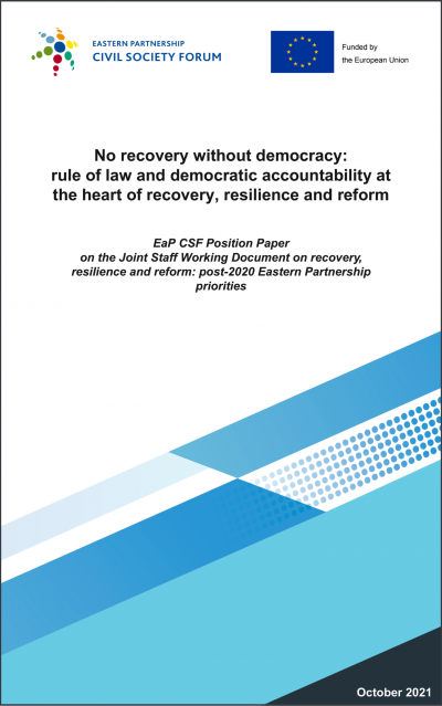 EaP CSF Position Paper on the JSWD on recovery, resilience and reform: post-2020 EaP priorities