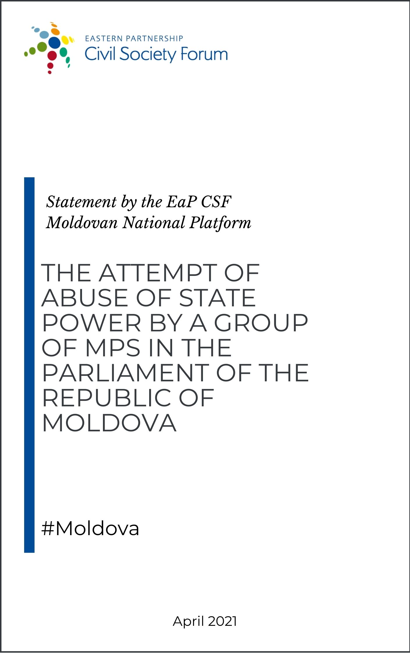 Public Appeal of the Moldovan NP the attempt of abuse of state power by a group of MPs in the parliament of the Republic of Moldova