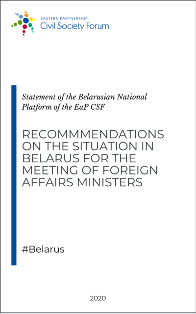 Belarus National Platform recommendations for the meeting of Foreign Affairs Ministers