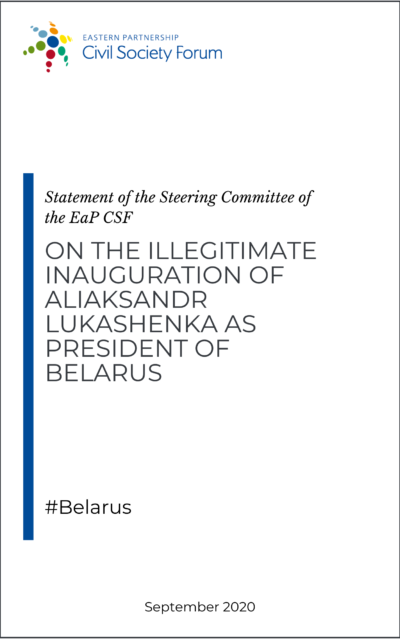 Steering Committee statement on illegitimate inauguration of Aliaksandr Lukashenka
