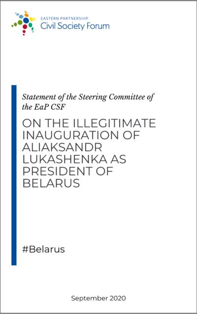 Steering Committee statement on illegitimate inauguration of Aliaksandr Lukashenka