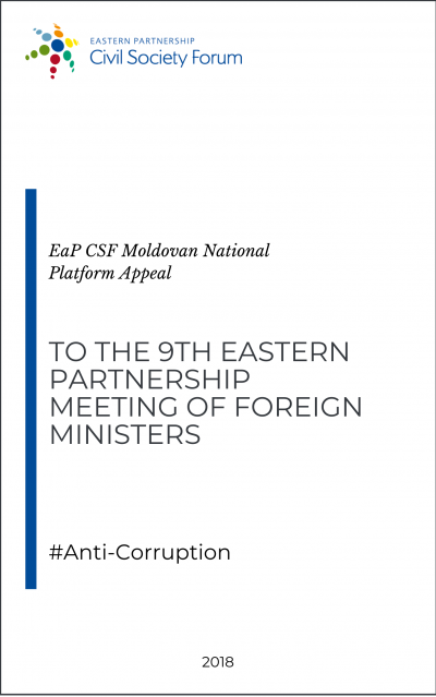 Moldovan Platform Appeal to the Ninth EaP Foreign Ministers Meeting