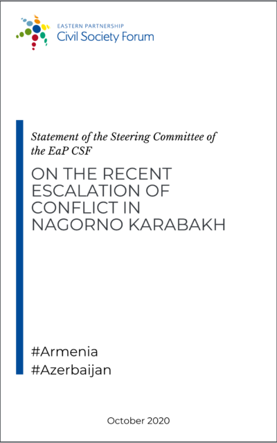 EaP CSF Steering Committee statement on the recent escalation of conflict in Nagorno Karabakh