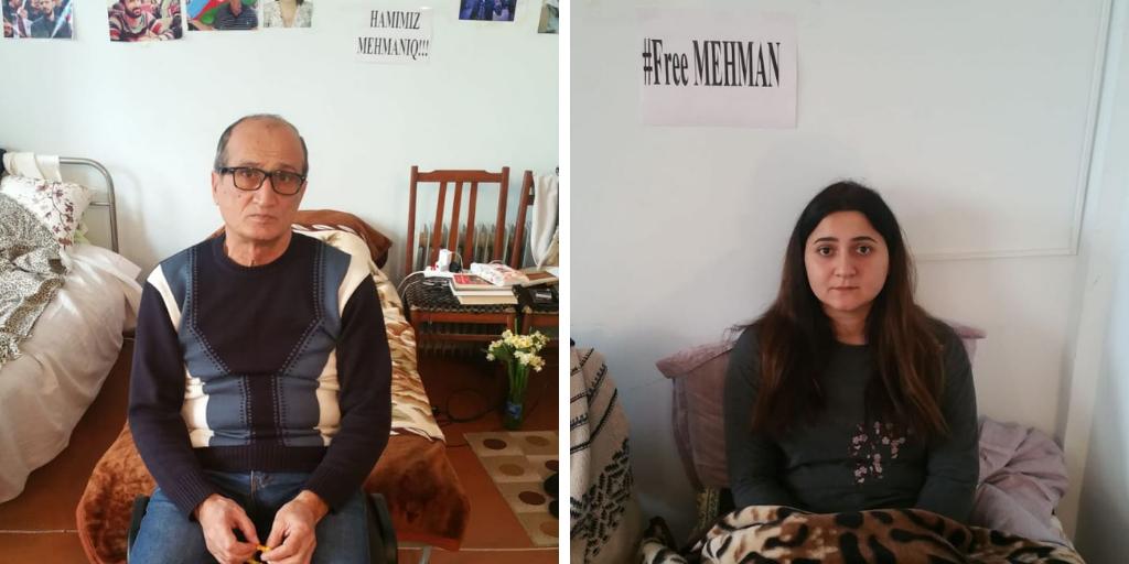 On hunger strike – Zafar Ahmadov (L) and Aygul Jafarova (R)
