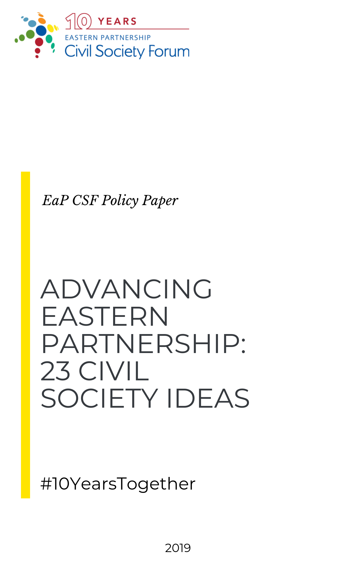 Advancing Eastern Partnership: 23 Civil Society Ideas