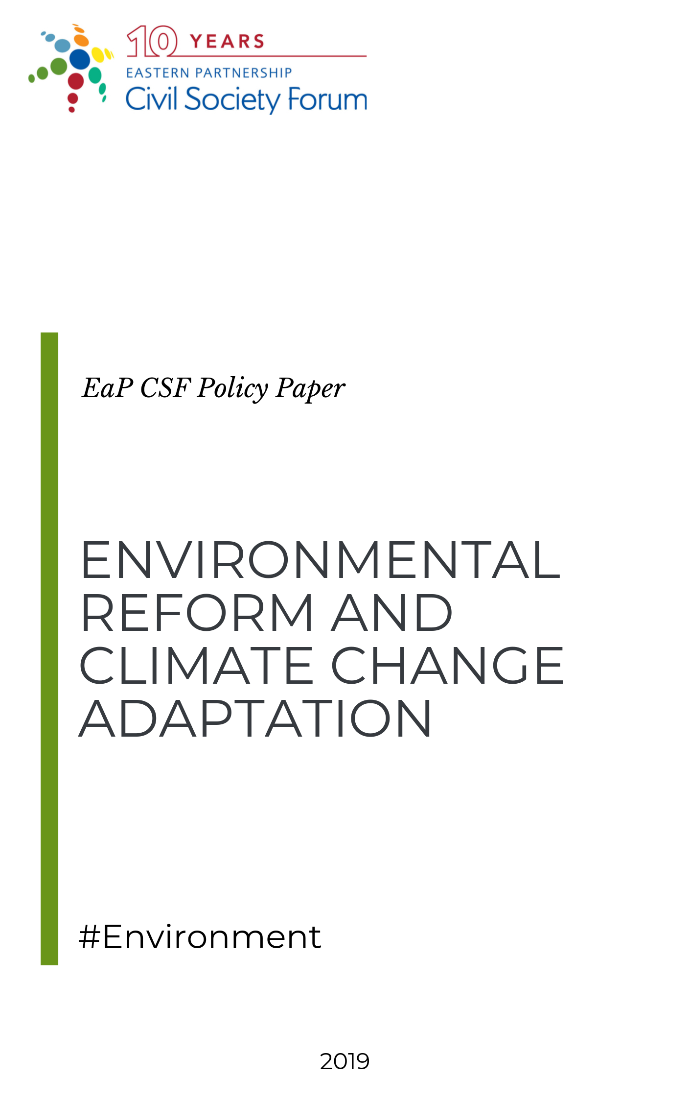 Environmental Reform and Climate Change Adaptation