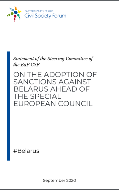 Steering Committee statement on sanctions against Belarus ahead of the special European Council, 1-2 October 2020