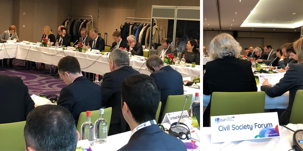 EaP CSF Presents Civil Society Perspective on Policy Developments and Further Cooperation Post-2020 at Senior Official Meeting (SOM) in Brussels
