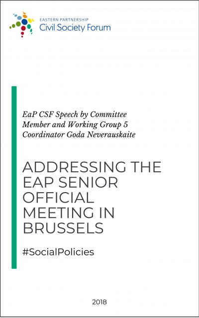 Speech by Goda Neverauskaite at the EaP Senior Official Meeting 2018