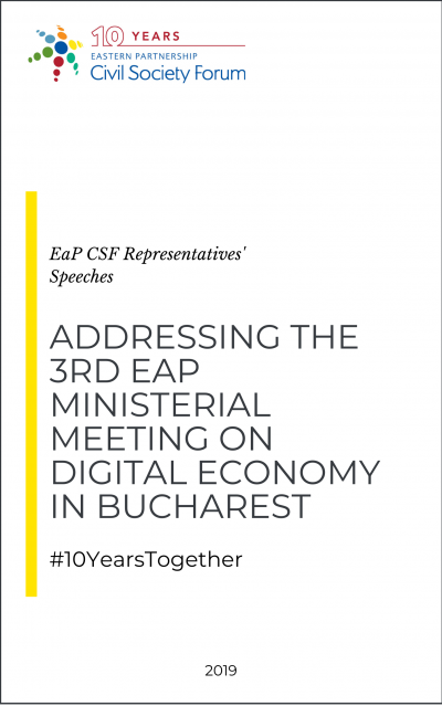 Addressing the 3rd Ministerial Meeting on Digital Economy