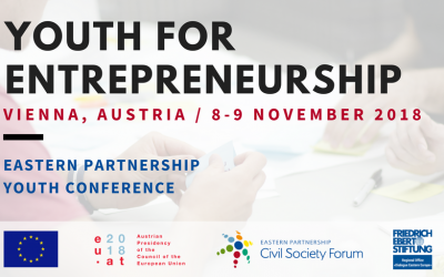 "EaP CSF Announces Eastern Partnership Youth Conference 2018 ""Youth for Entrepreneurship"" Call for Applications"