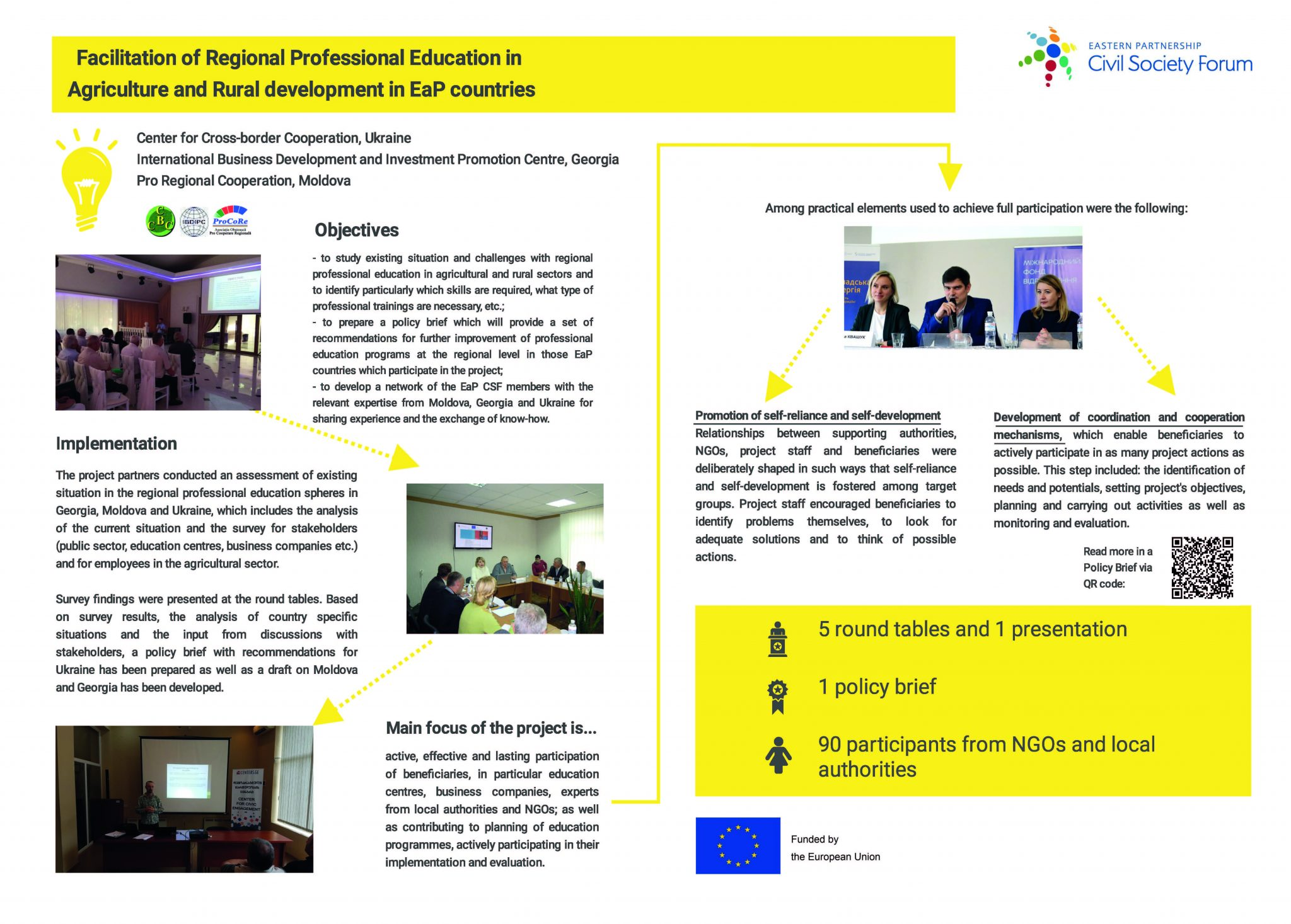 WG2 'Facilitation of Regional Professional Education in Agriculture and Rural Development in EaP countries'