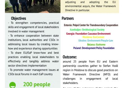 WG3 'EURO AQUA AA-driven Integrated Local Water Governance in EaP'